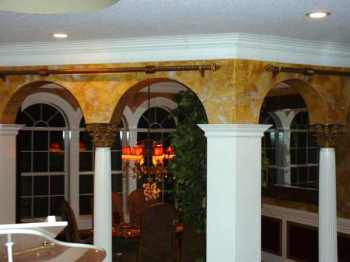 Fluted Column with Corinthian Capital & Square Columns on each side